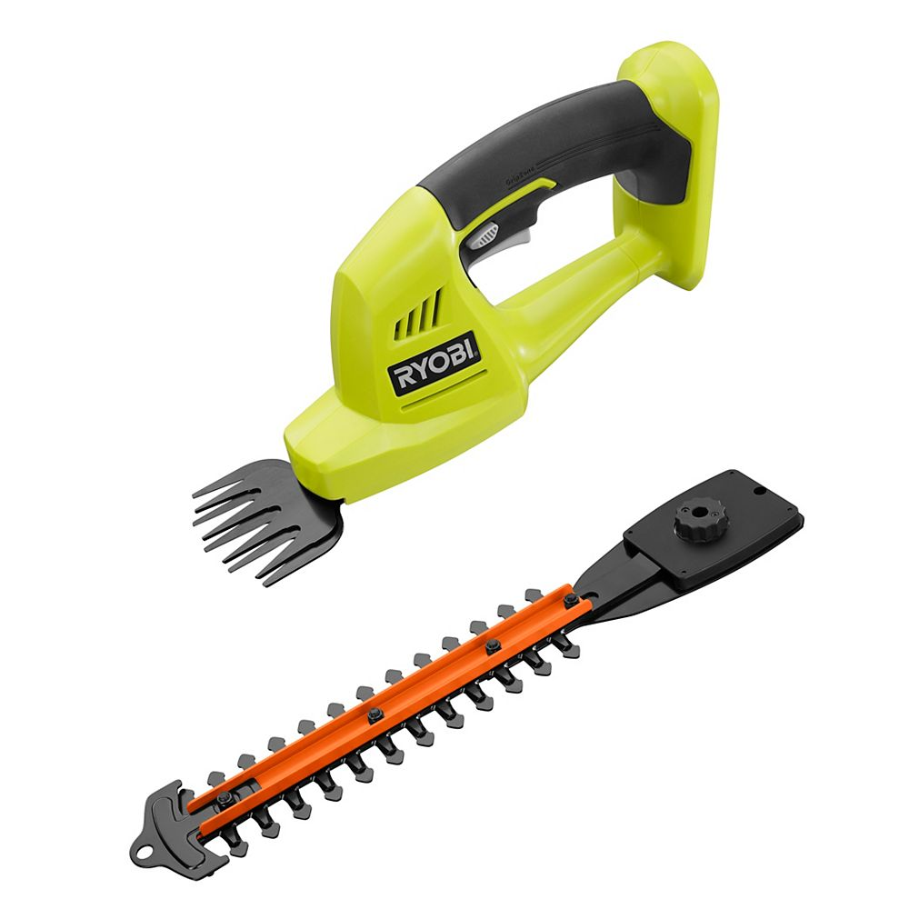 RYOBI 18V ONE+ Lithium-Ion Cordless Grass Shear and Shrubber (Tool Only)