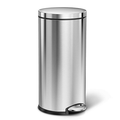 Simplehuman 35L round step can stainless steel