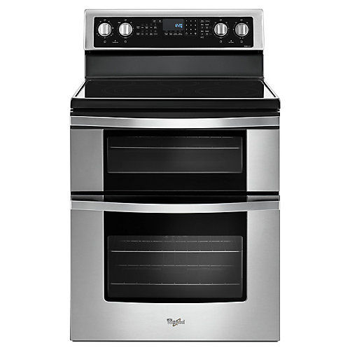 6.7 cu. ft. Double Oven Electric Range with True Convection Oven in Stainless Steel
