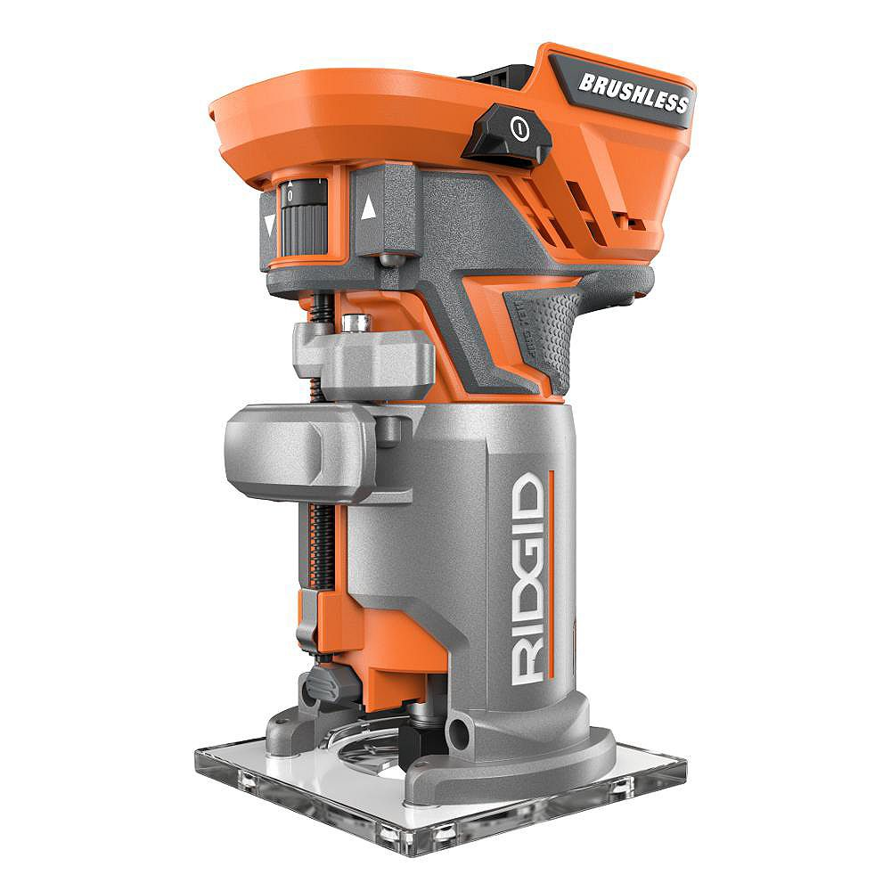 RIDGID GEN5X 18V Cordless Brushless Compact Router (Tool Only) with Tool Free Depth Adjustment