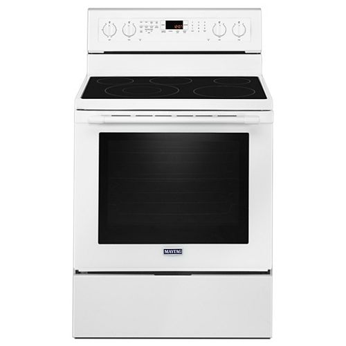 6.4 cu. ft. Electric Range with Convection Oven in White