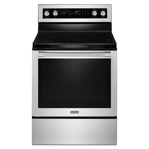6.4 cu. ft. Electric Range with Convection Oven in Stainless Steel