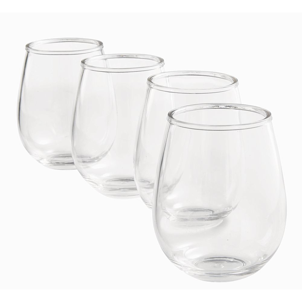 Hampton Bay Tritan Wine Stemless (4-Pack)