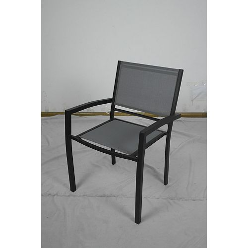 Hampton Bay White Rock Outdoor Sling Stacking Chair (Set of 32)