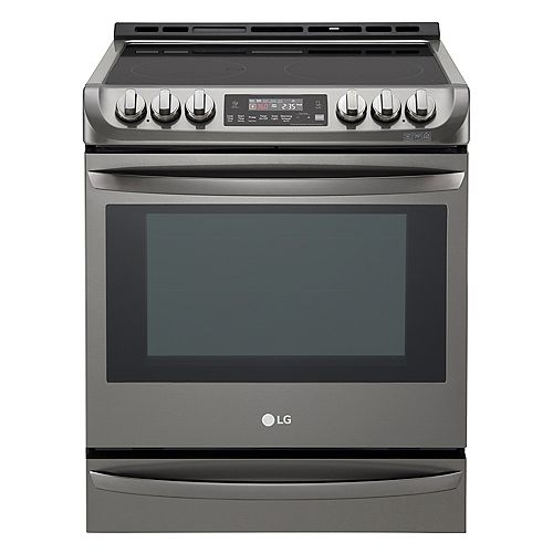 6.3 cu.ft. Electric Slide-In Range with ProBake Convection and EasyClean® in Black Stainless Steel