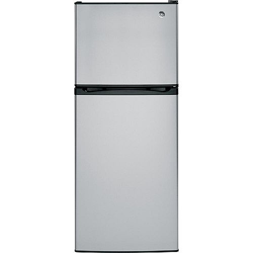 GE 24-inch W 11.55 cu. ft. Top Freezer Refrigerator in Stainless Steel - ENERGY STAR®