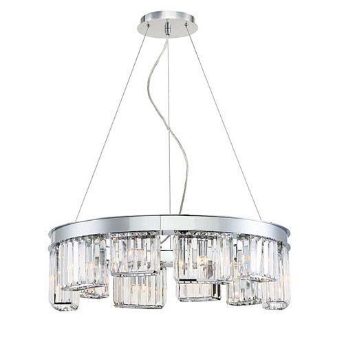 Eurofase Lumino Collection 10-Light Chandelier in Chrome