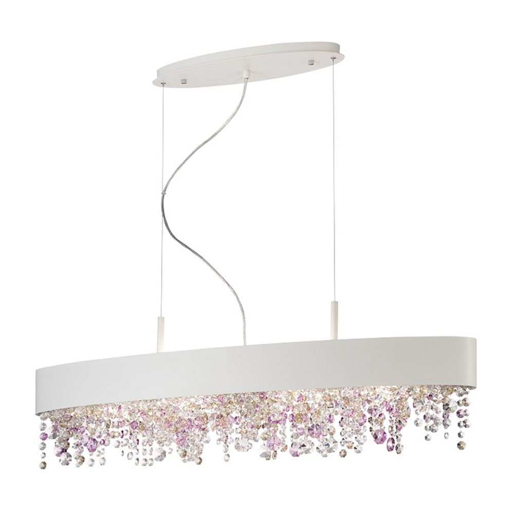 Eurofase Romanelli Collection, 6-Light Oval White Chandelier