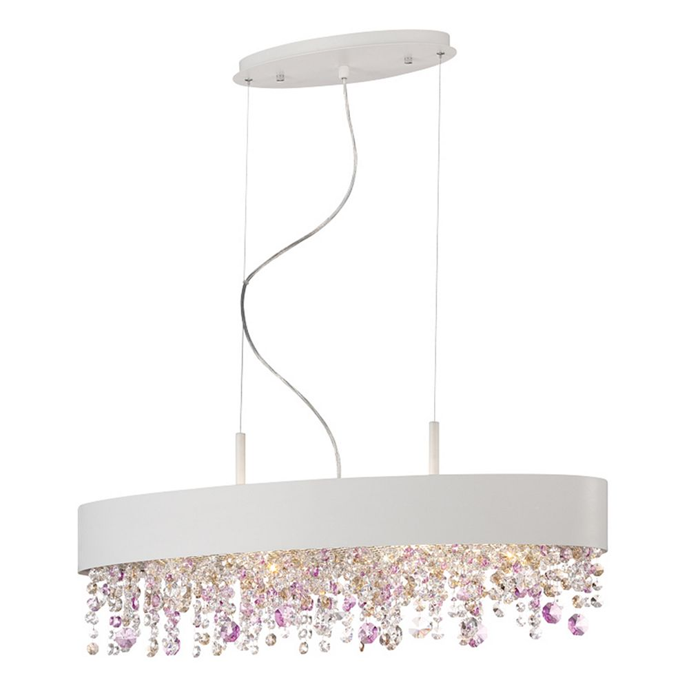 Eurofase Romanelli Collection, 6-Light Oval White Chandelier