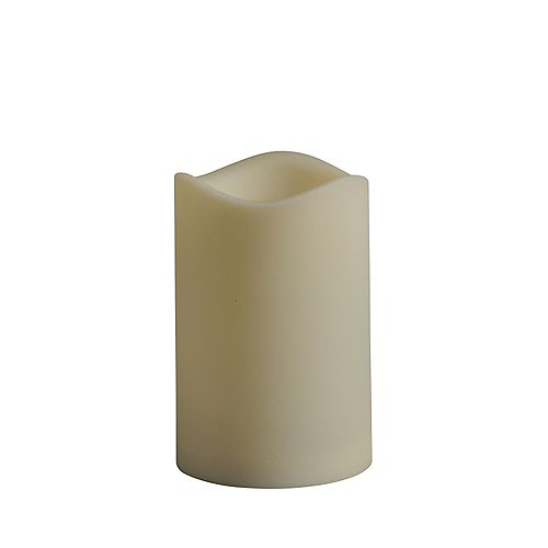 Hampton Bay 3-inch x 4-inch LED Outdoor Pillar Candle