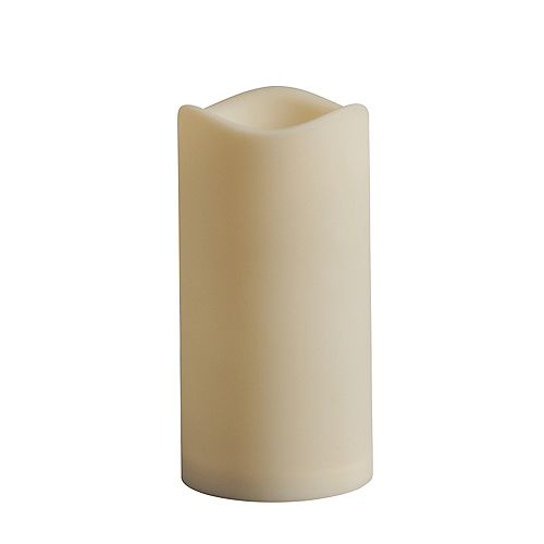 3x6 LED Outdoor Pillar Candle