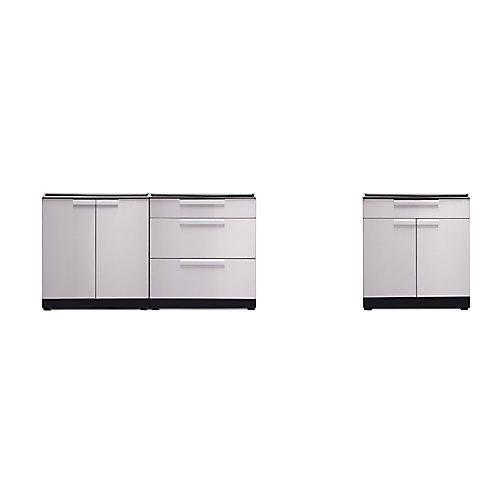 Outdoor Kitchen Stainless Steel  120 inch W x  36.5 inch H x 24 inch D  Cabinet Set