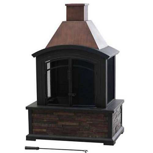 Outdoor Fireplace in Slate
