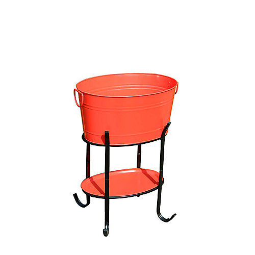 Party Tub Drinks Bin in Red