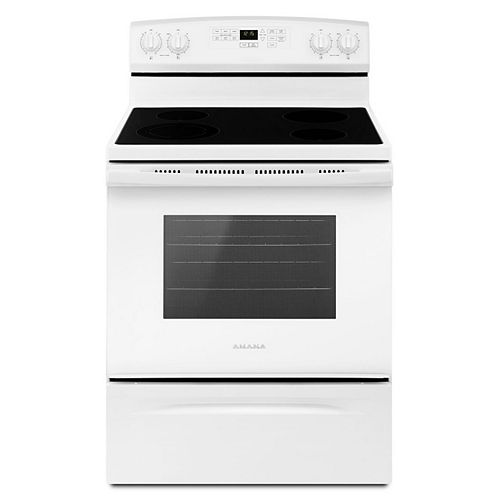 4.8 cu. ft. Electric Range with Self-Cleaning Oven in White