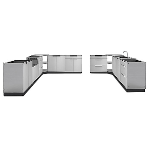 Classic 11-Piece Stainless Steel Outdoor Kitchen