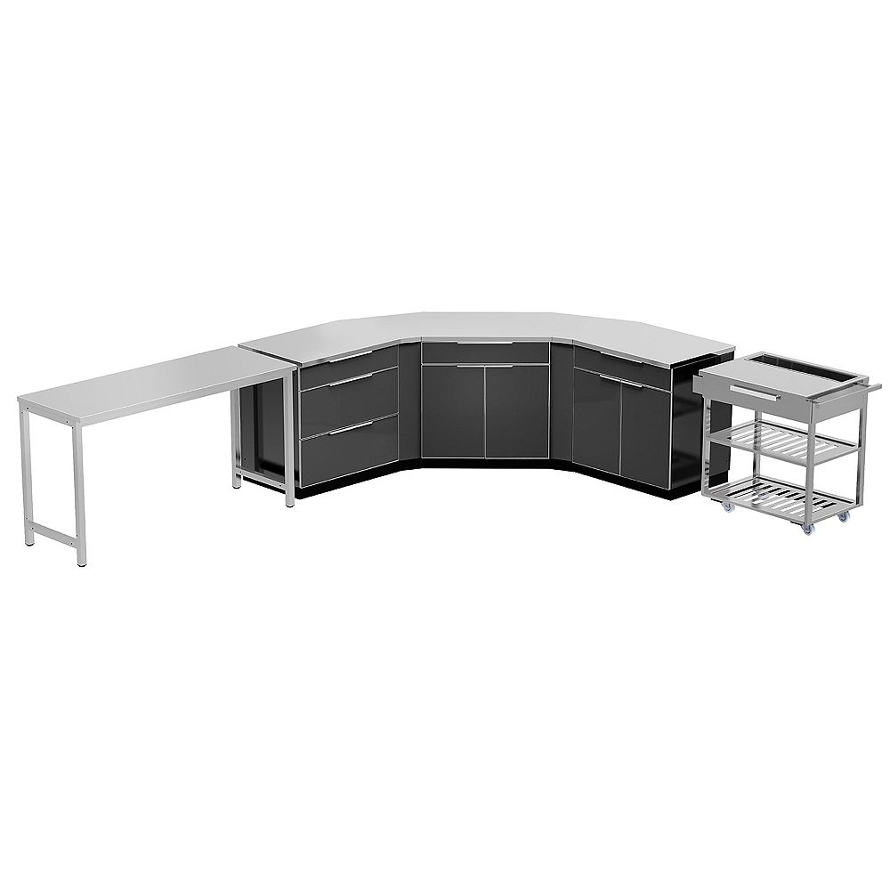 NewAge Products Inc. 10-Piece Aluminum Outdoor Kitchen Set in Slate with Cover