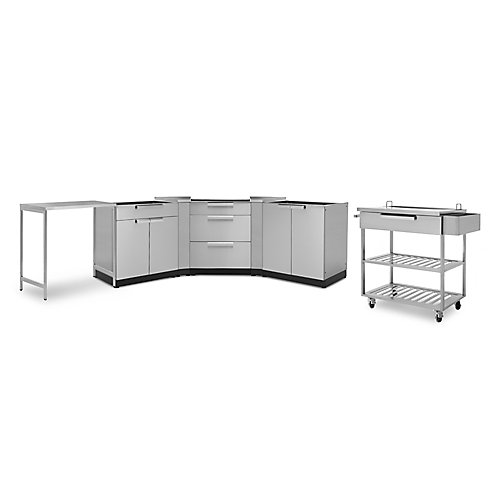 Classic 7-Piece Stainless Steel Outdoor Kitchen