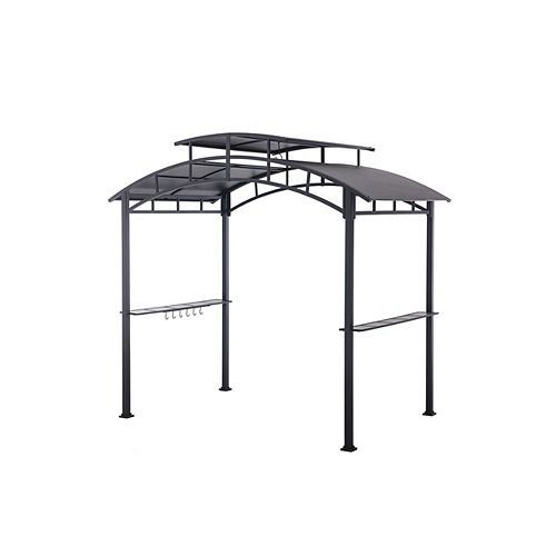 8 1/2 ft. x 5 ft. Steel BBQ Gazebo in Black