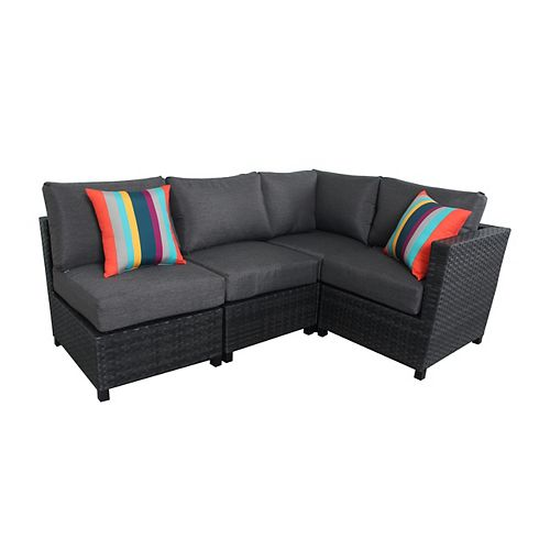 Grand Prince 4-Piece Woven Patio Sectional