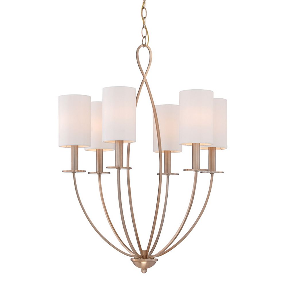Eurofase Castana Collection, 6-Light Gold Chandelier
