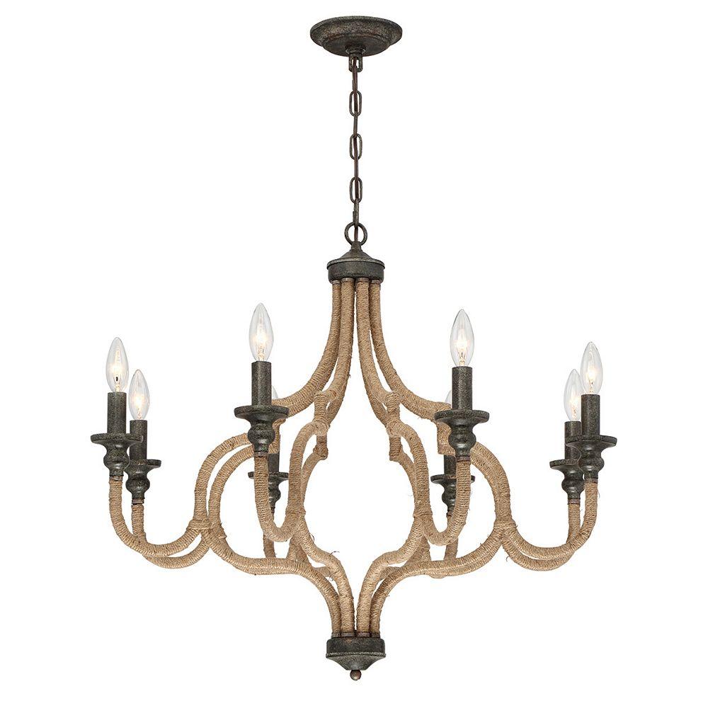Eurofase Corda Collection, 8-Light Bronze Chandelier