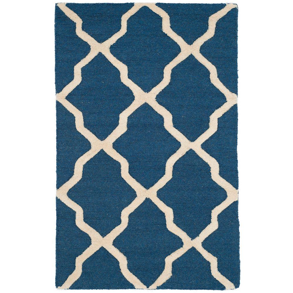 Safavieh Cambridge Giselle Navy Blue / Ivory 3 ft. x 5 ft. Indoor Area Rug