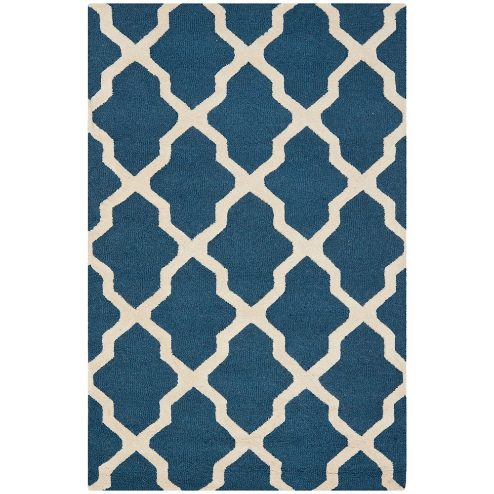 Safavieh Carpette, 4 pi x 6 pi, rectangulaire, bleu Cambridge
