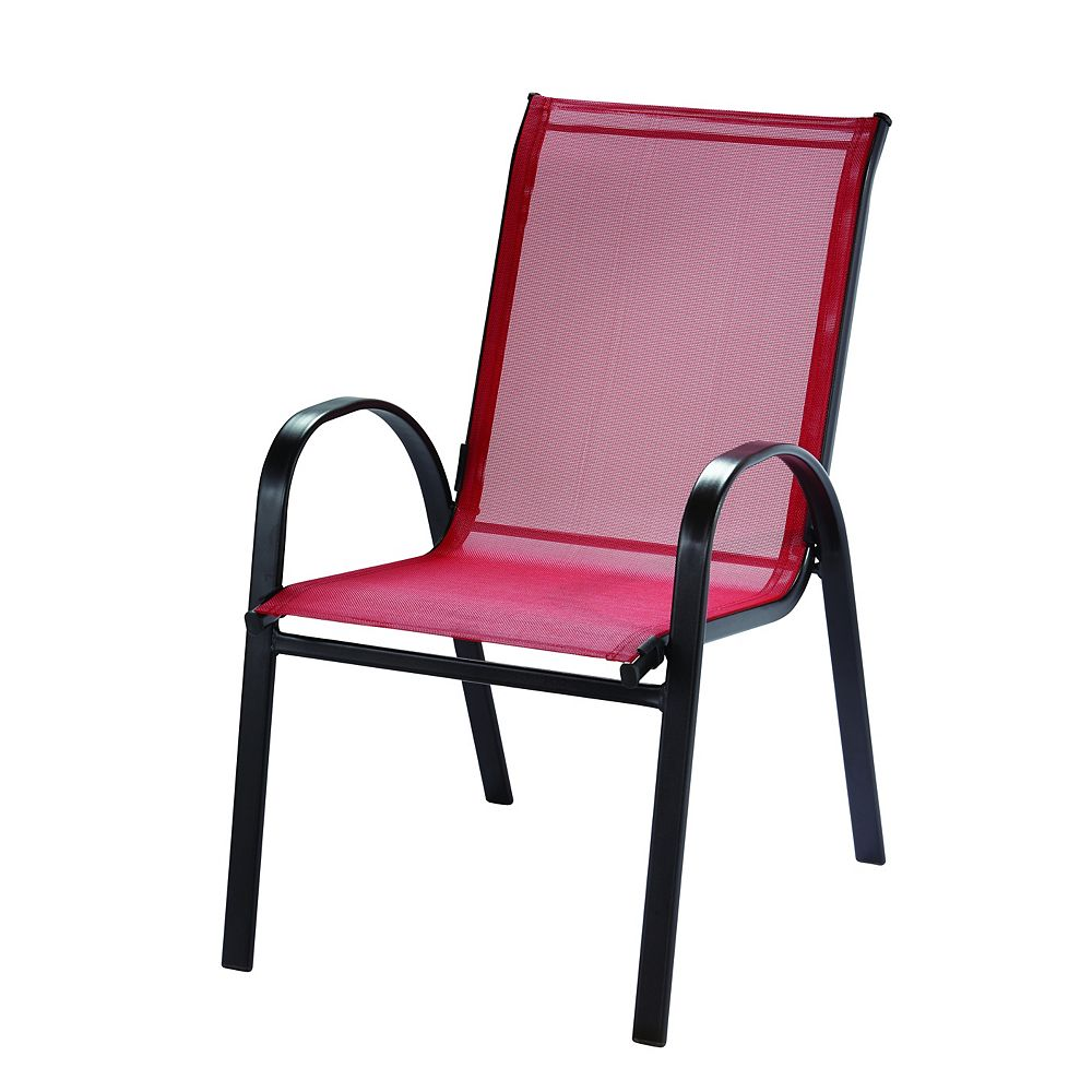 Hampton Bay UP Sling Stack Chair - ROUGE