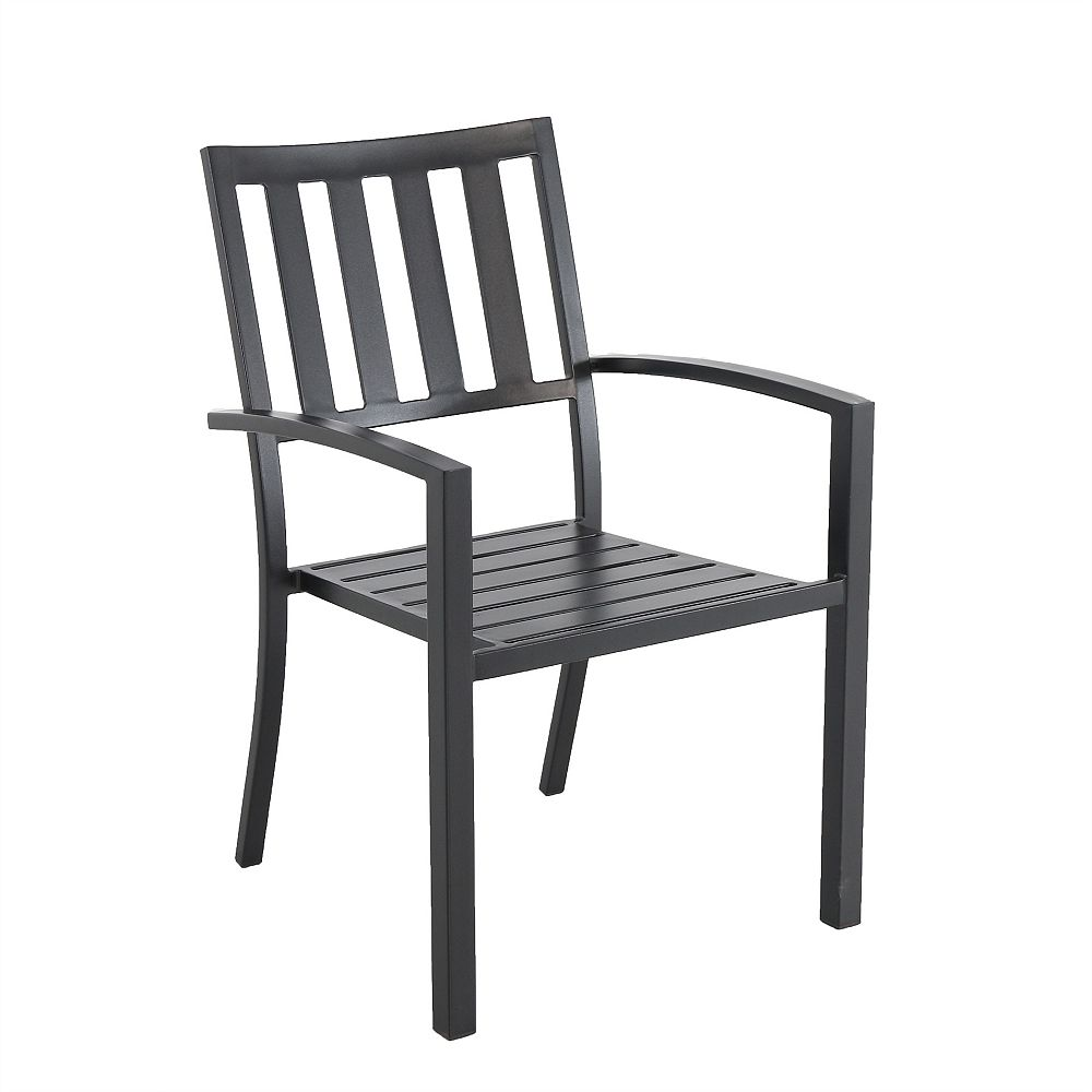 Hampton Bay Steel Slat Patio Stacking Chair