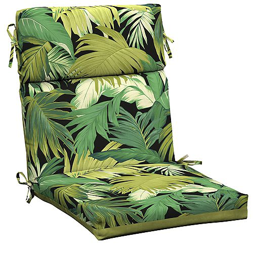 Outdoor Dining Chair Cushion in Tropicalia