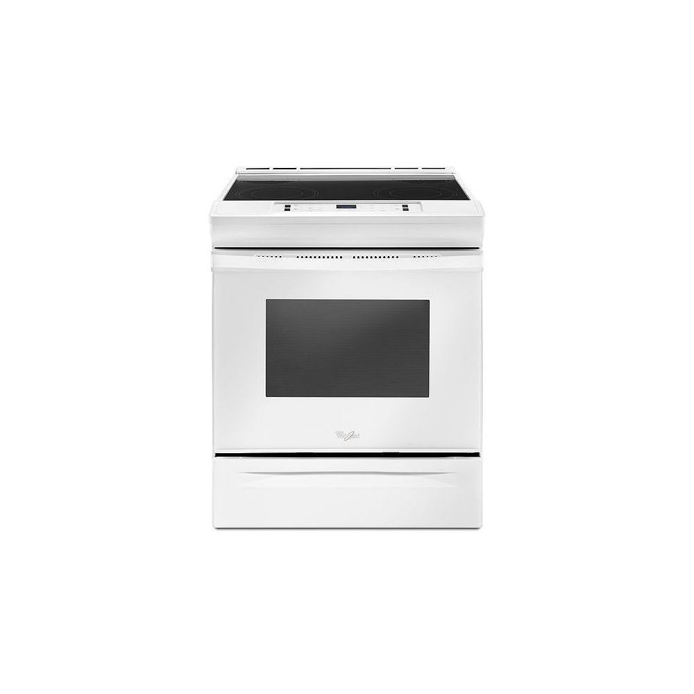 Whirlpool 4.8 cu.ft. Slide-In Electric Range with Self-Cleaning Oven in White