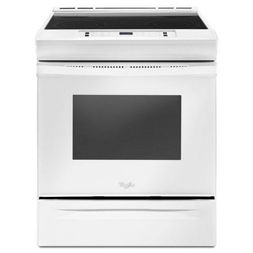 4.8 cu.ft. Slide-In Electric Range with Self-Cleaning Oven in White