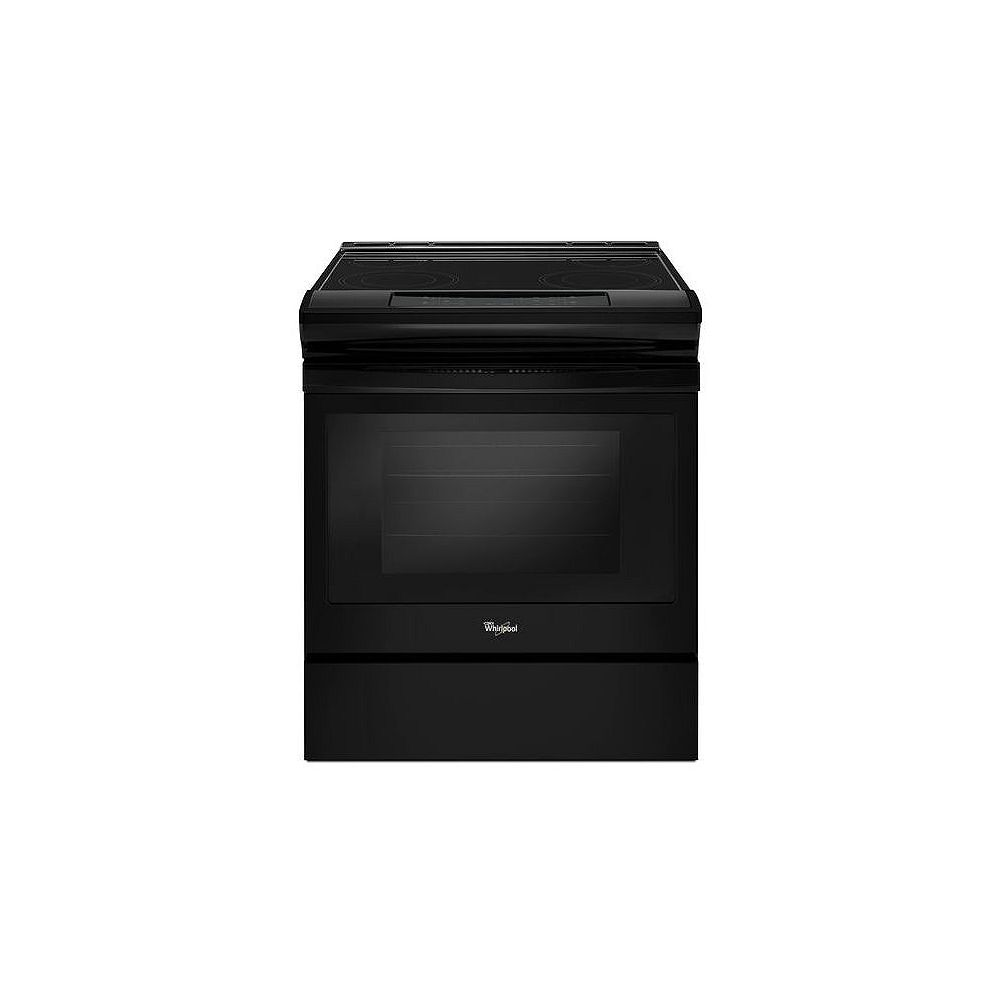 Whirlpool 4.8 cu.ft. Slide-In Electric Range with Self-Cleaning Oven in Black