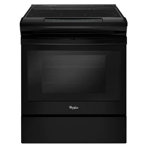 4.8 cu.ft. Slide-In Electric Range with Self-Cleaning Oven in Black