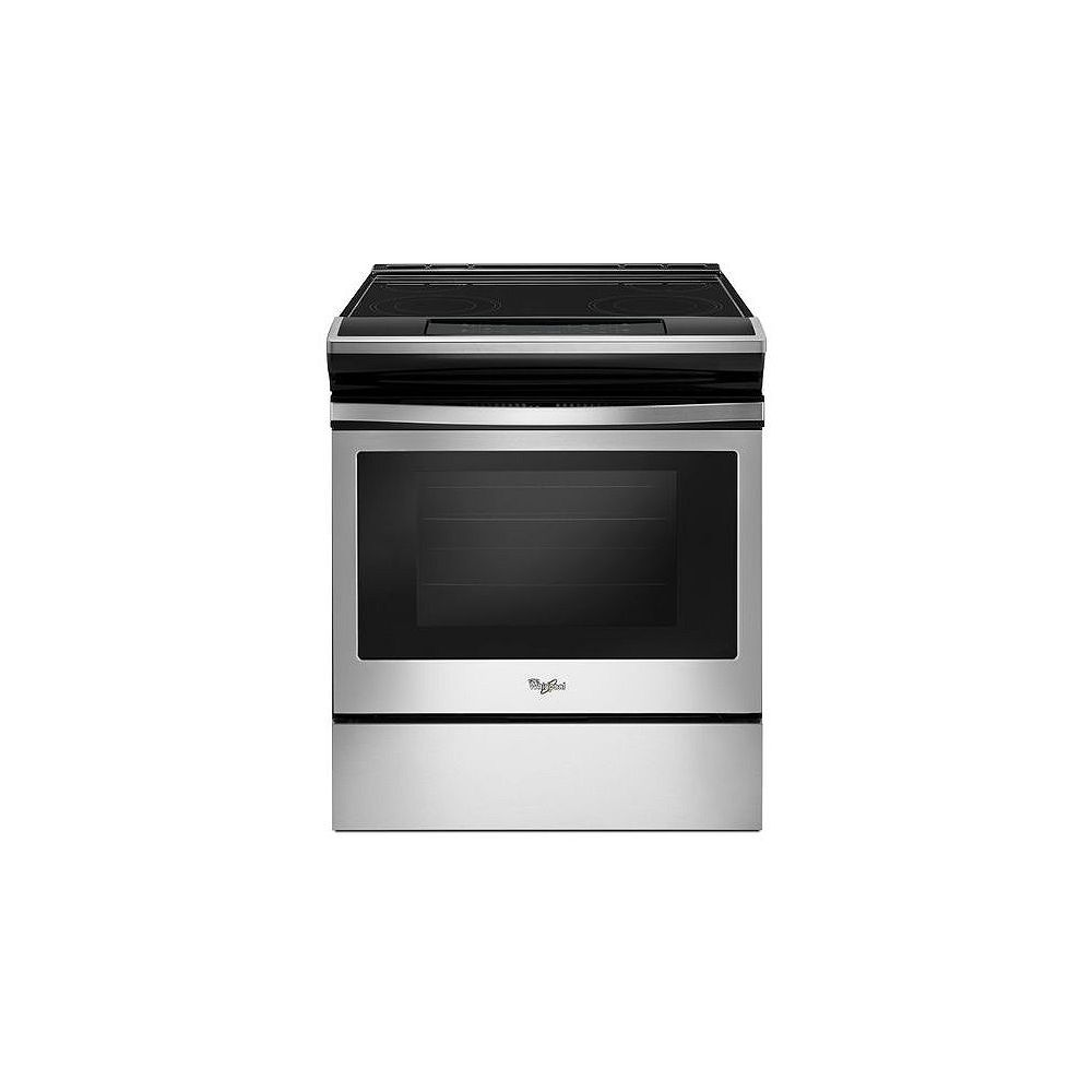 Whirlpool 4.8 cu.ft. Slide-In Electric Range with Self-Cleaning Oven in Stainless Steel
