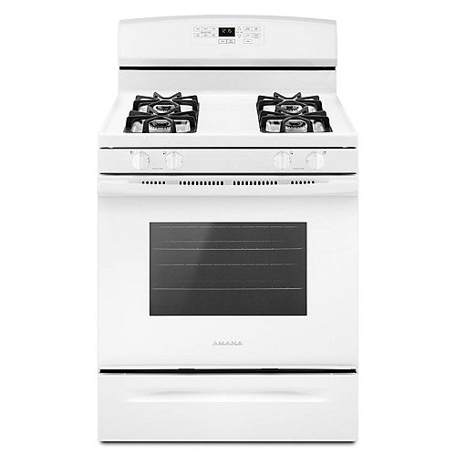 5.0 cu.ft. Gas Range with Self-Cleaning Oven in White