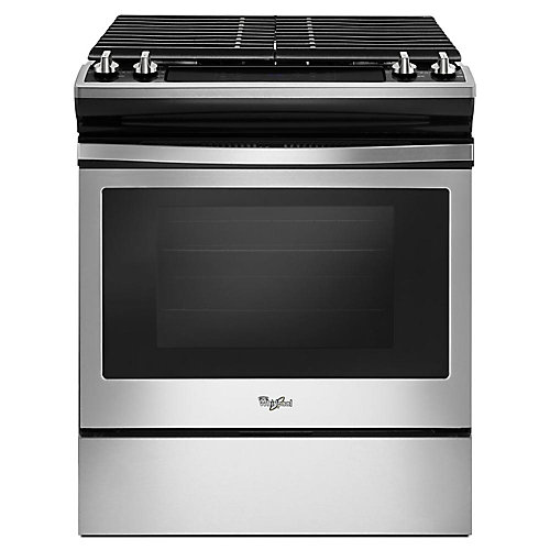 5.0 cu.ft. Slide-In Gas Range with Self-Cleaning Convection Oven in Stainless Steel