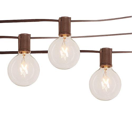 Guirlandes lumineuses de café à ampoules transparentes