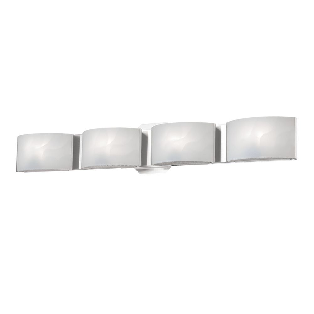 Eurofase Dakota Collection 4-Light LED Bath Bar Vanity Light Fixture in Chrome