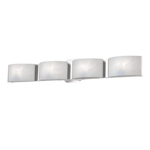 Eurofase Collection Dakota, barre déclairage de salle de bains chrome à 4ampoules DEL