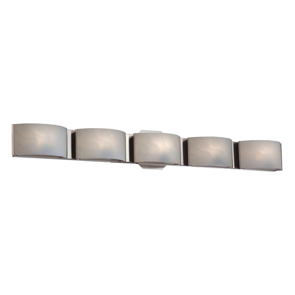 Eurofase Dakota Collection, 5-Light LED Chrome Bath Bar