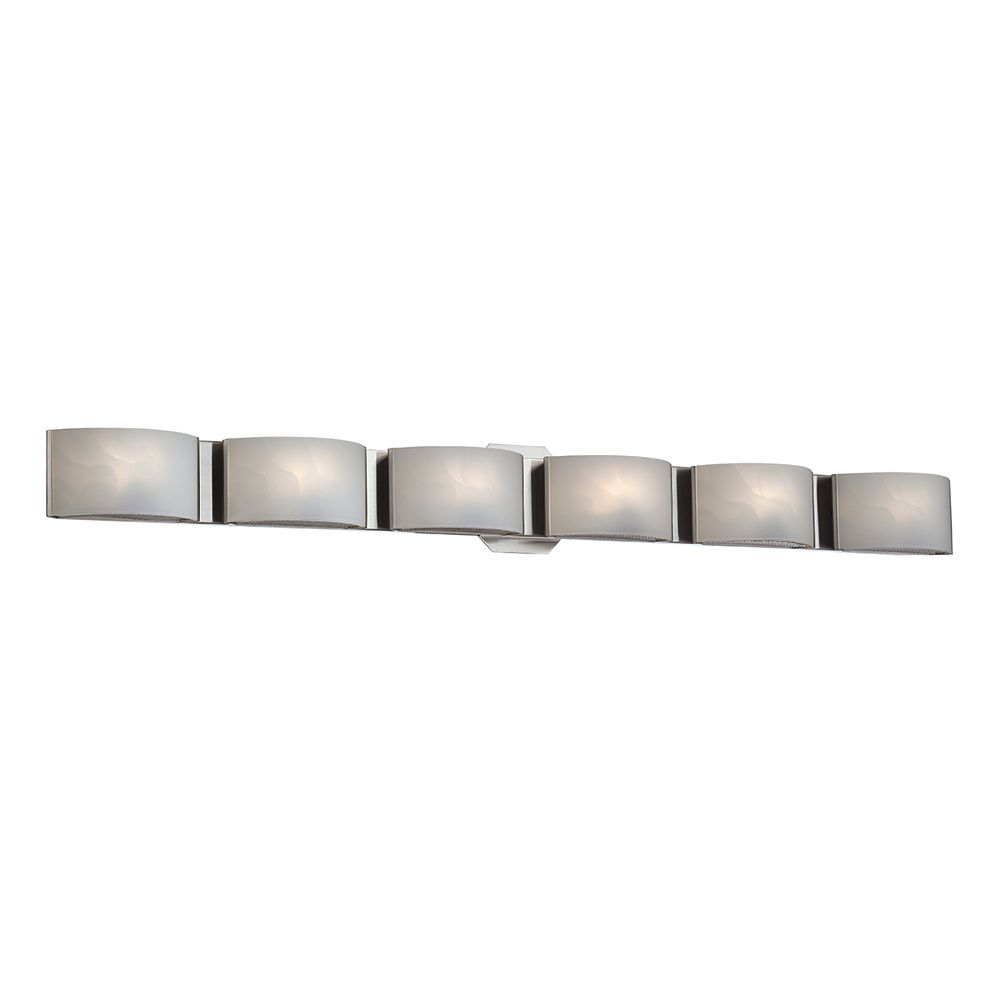 Eurofase Dakota Collection, 6-Light LED Chrome Bath Bar