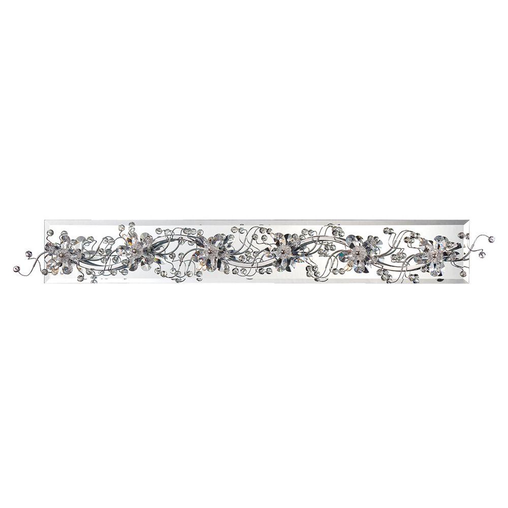 Eurofase Collection Relic, barre déclairage de salle de bains chrome à 6 ampoules