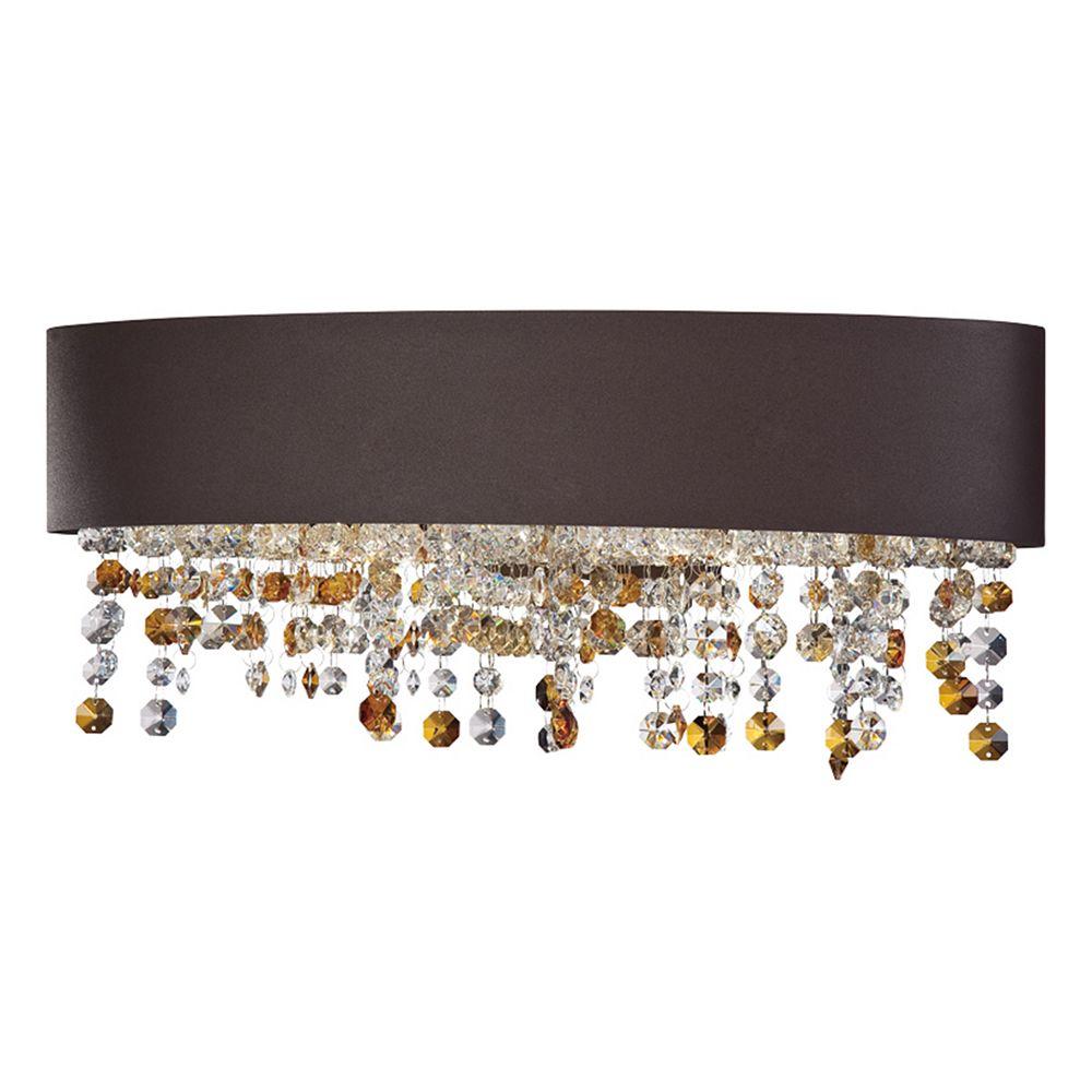 Eurofase Collection Romanelli, barre déclairage de salle de bains bronze à 4 ampoules