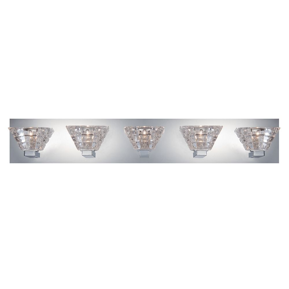 Eurofase Zilli Collection, 5-Light Chrome Bath Bar