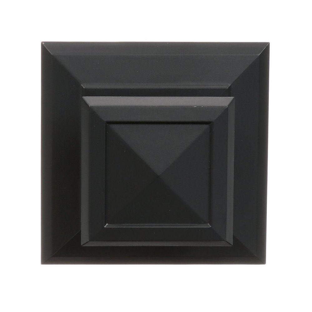 Command Medium Decorative Knob, 17055S-EF, square, slate
