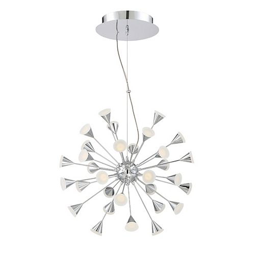 Eurofase Esplo Collection, 32-Light Convertible LED Chrome Chandelier