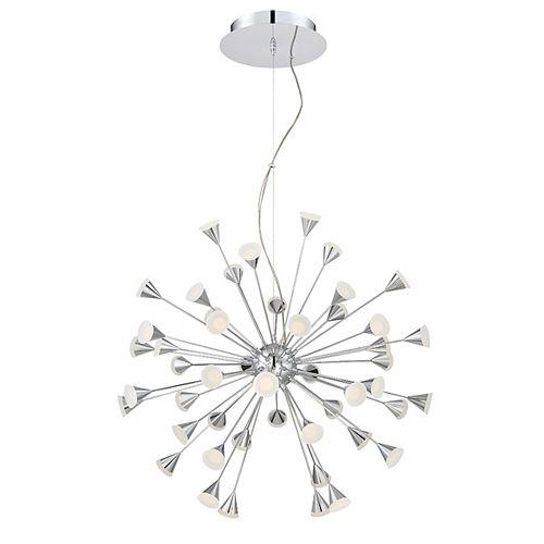 Eurofase Esplo Collection, 48-Light LED Chrome Chandelier