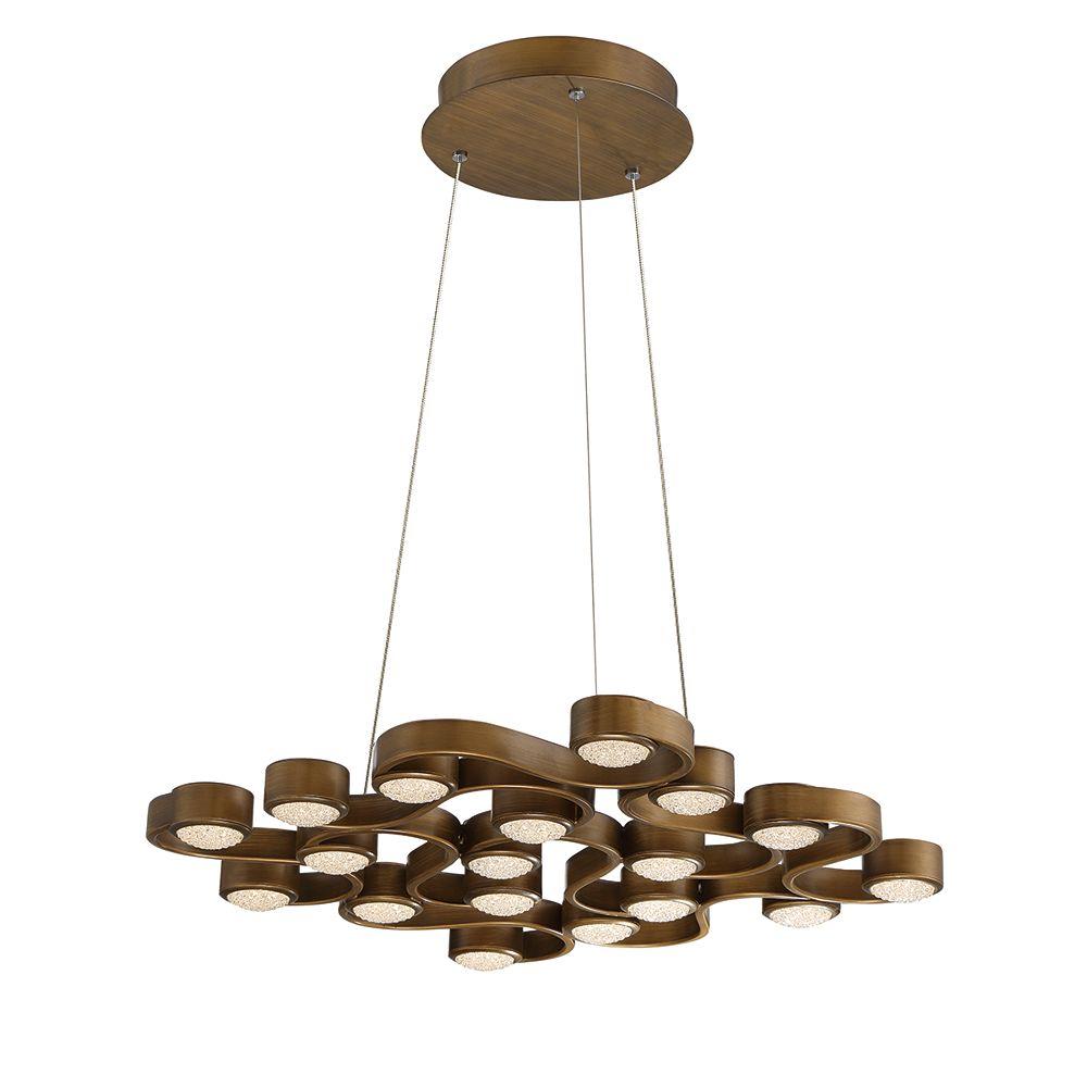 Eurofase Collection Pallazo, lustre bronze à 18ampoules DEL